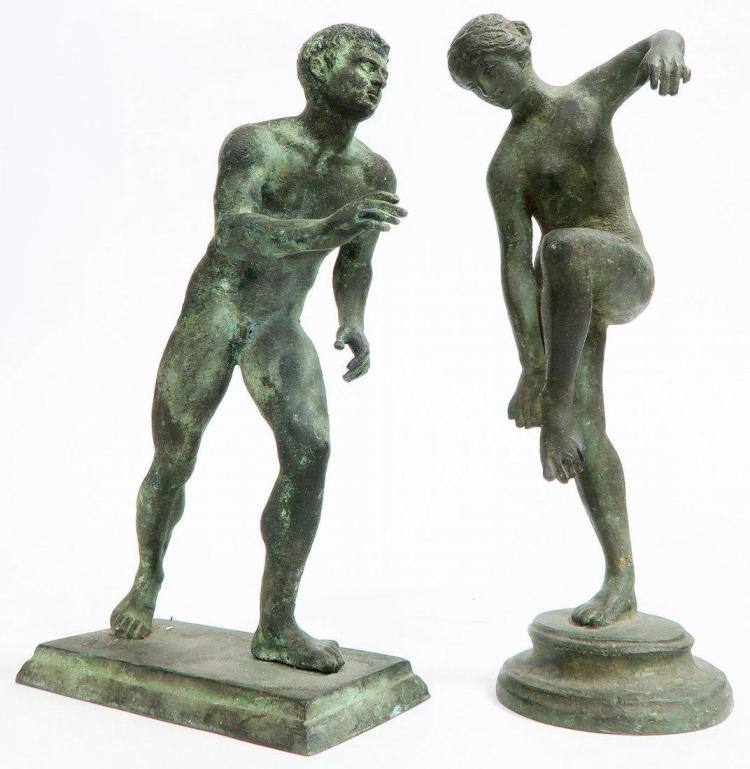 Greek Style Sculptures of Olympians c1920s