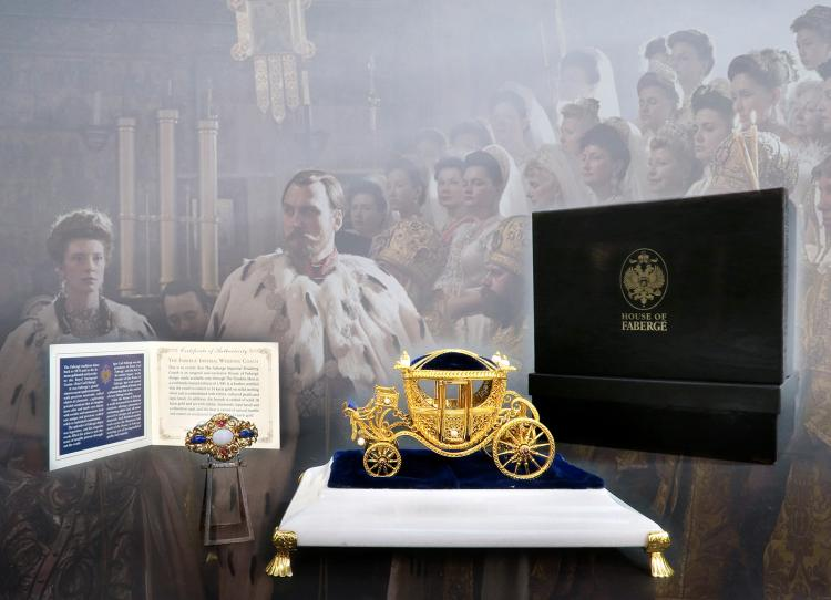 House of Faberge Sterling & Gold Wedding Coach