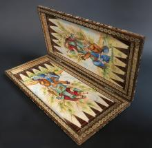 Magnificent Hand Made Persian Backgammon/Chess Set
