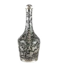 Chinese Silver Overlay Decanter