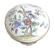18th Century Sinceny Faience Silver Mounted Box