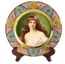 Royal Vienna Porcelain Cabinet Plate, Rondel