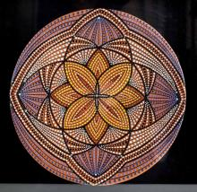 Australian Ceramic Aboriginal Birubi Art Plate