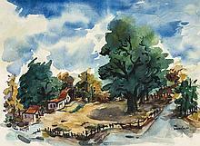 Dorothy Sklar (American, 1906 - 1996) Watercolor