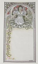 Alphonse Mucha (Czech, 1860-1939) Menu Card