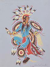 Woodward (Woody) Crumbo (1912-1989) Silkscreen print