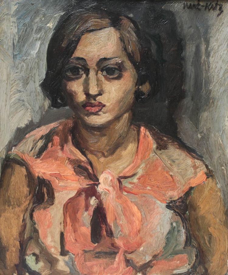 Mane katz israeli 1894 1962 oil on canvas for Katz fine art