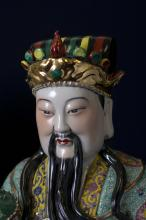3 Chinese Famille Rose Porcelain Immortals