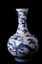 Chinese Blue & White bottle Vase