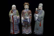 A set of porcelain immortals
