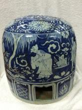A Blue and White Porcelain Stool