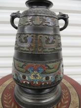 Chinese Cloisonné Vase Lamp