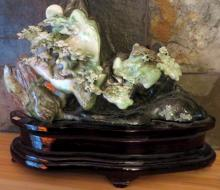 Large Chinese Carved Jadeite Mountain