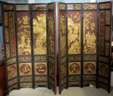 Two Chinese Carved Room Dividers