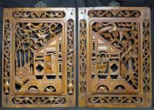 Two Carved Chinese Ming Dynasty Panels