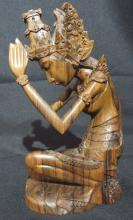Oriental Carved Praying Statue