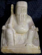 Large Chinese White Marble Carved Statue
