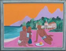 Jonathan Routh (1927-2008) Pineapple PeopleAcrylic on Board
