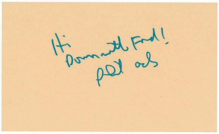 Autograph -   Phil Ochs
