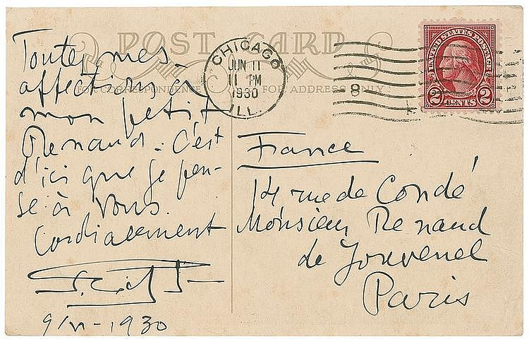 Autograph - Sergei Eisenstein