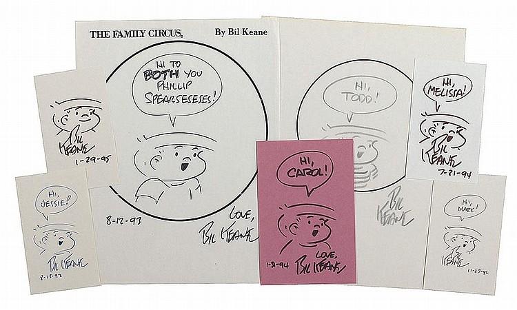 Bil Keane: Seven original ink and felt tip
