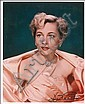 Joan Fontaine: Color glossy 8 x 10 photo, signed, Joan Fontaine, Click for value