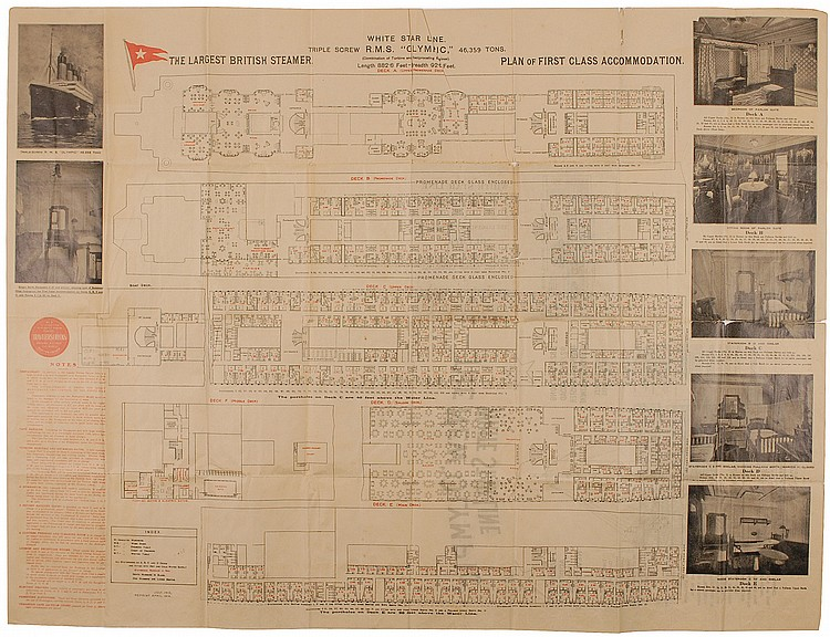 Olympic First Class Floorplan