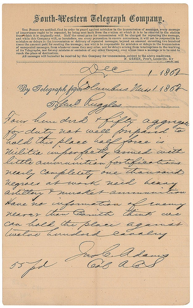 Autograph -  John C. Adams