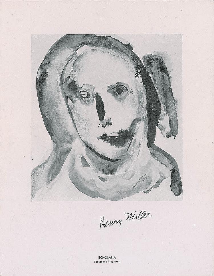 Autograph -  Henry Miller