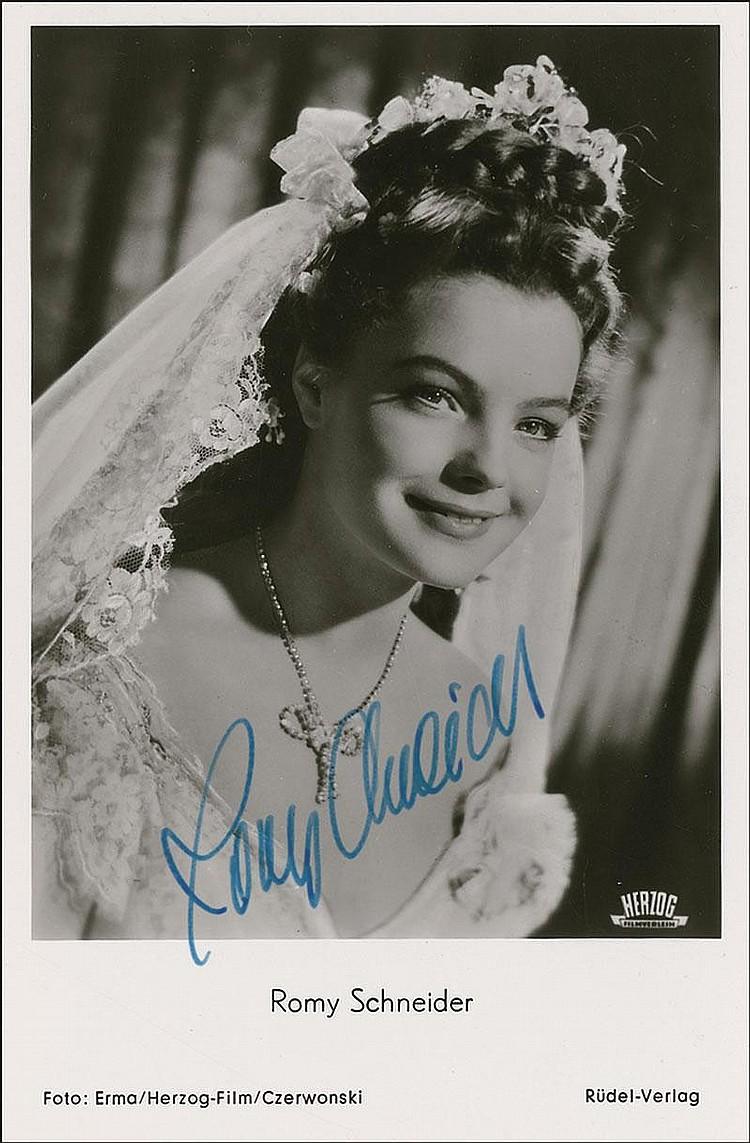 Sold Price Autographs Romy Schneider March 3 0110 12 00 Am Est