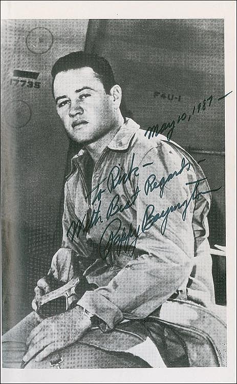 Rr Autograph Auctions Consignment Agreement: Autograph: Pappy Boyington