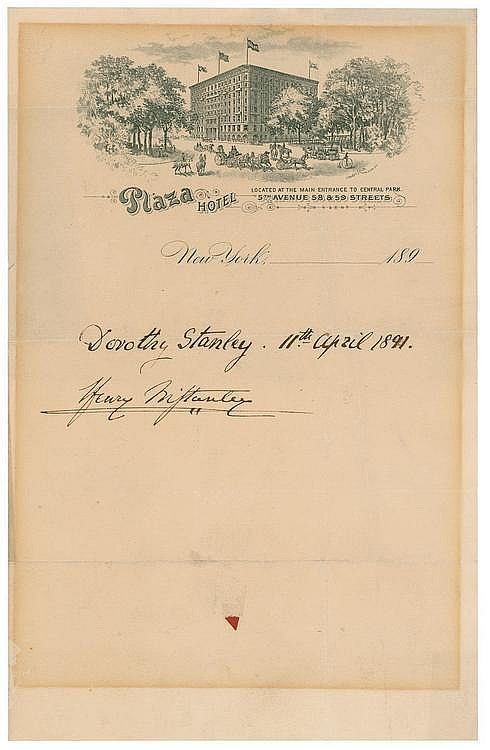 Autographs -  Henry M. Stanley