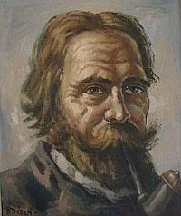 KOENIG, DEZSO (1902-1972) PORTRAIT OF BEARDED MAN