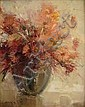 BRIGG, MELVIN ARTHUR (1950 - ) BOWL OF FLOWERS Oil, Melvin Brigg, Click for value