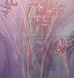 JANSEN VAN VUUREN, LOUIS (1949- ) IRIS IN BLUE Pastel Signed and dated 1990 67 x 64cm