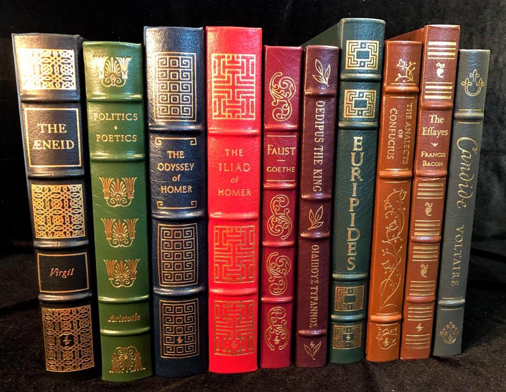 THE CLASSICS - EASTON PRESS 100 GREATEST BOOKS EVER WRITTEN - 10 VOLUMES