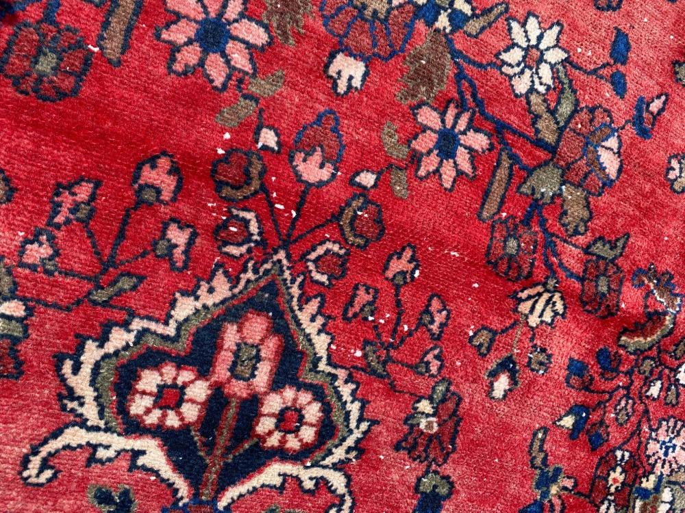 ANTIQUE PERSIAN LILIHAN HAND KNOTTED RUG - 10.4 x 14.7