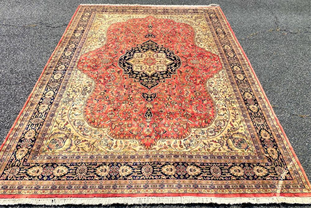 PERSIAN TABRIZ HAND KNOTTED RUG WITH 200+ KPSI - 8.2 x 11.5