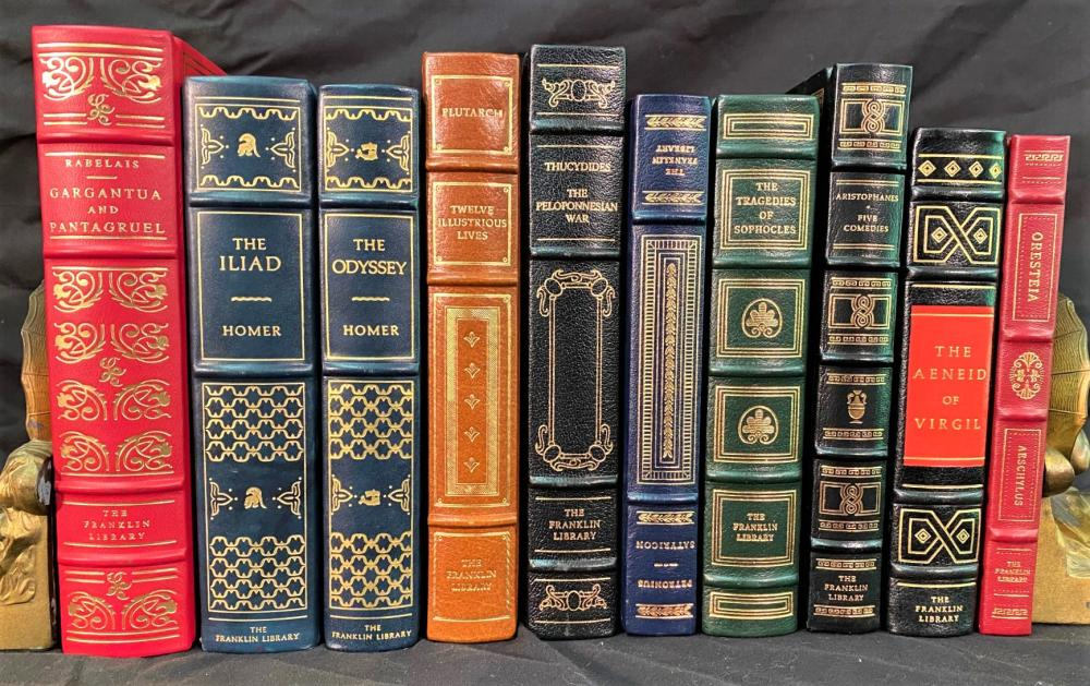ANCIENT GREEKS - FRANKLIN LIBRARY LEATHER BOUND BOOKS - 10 VOLUMES