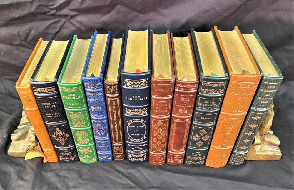 POLITICS AND PHILOSOPHY - FRANKLIN LIBRARY LEATHER BOUND BOOKS - 11 VOLUMES