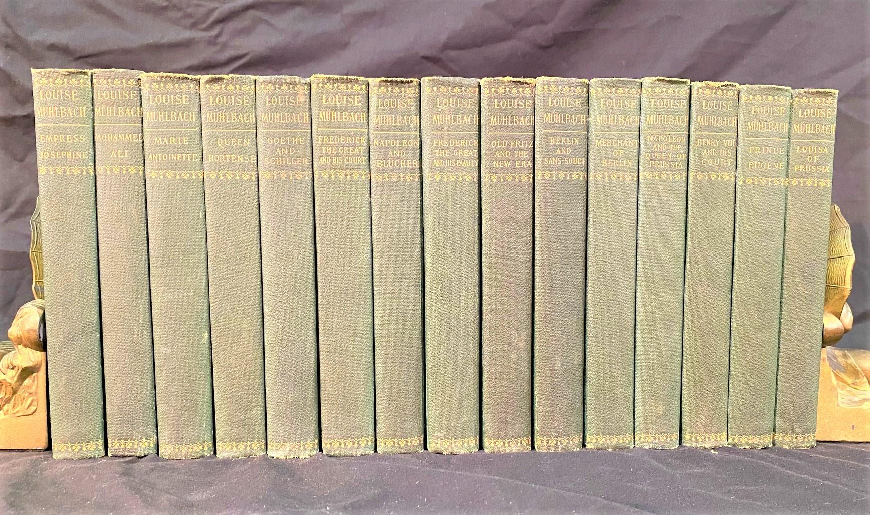 THE WORKS OF LOUISE MUHLBACH - 15 VOLUMES - 1902
