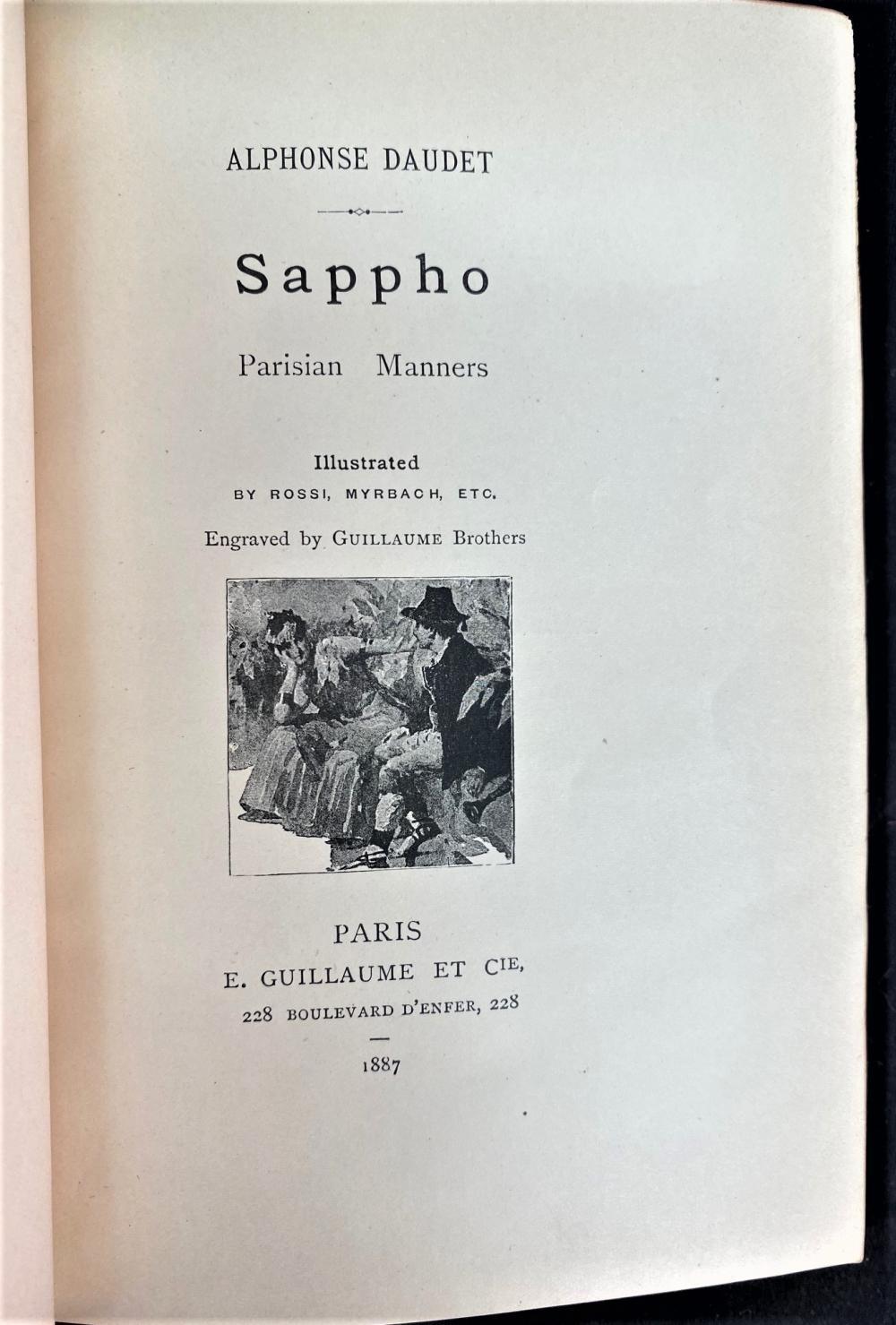 ALPHONSE DAUDET - 5 VOLUMES - 1887