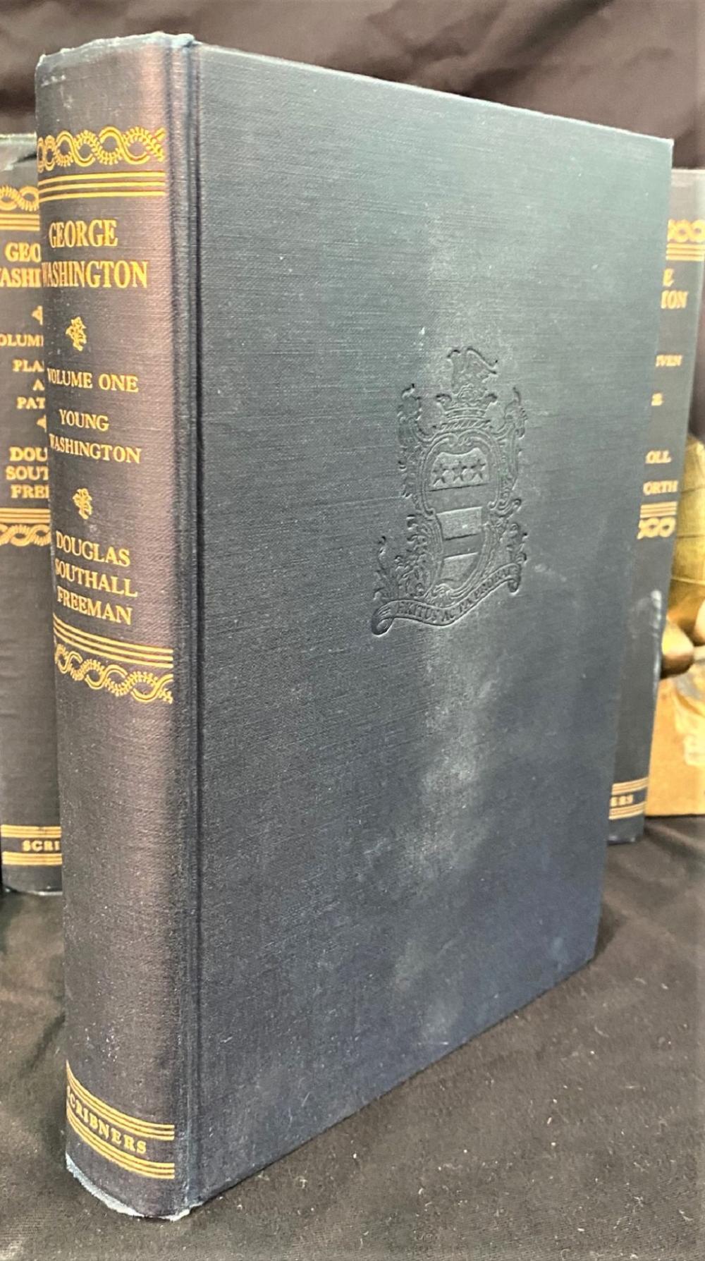 GEORGE WASHINGTON BY DOUGLAS SOUTHALL FREEMAN - 7 VOLUMES, 1948-1957
