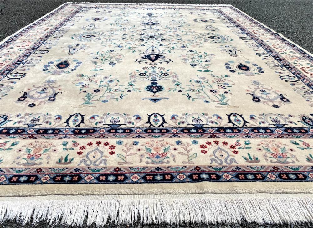 SIGNED PERSIAN TABRIZ HAND KNOTTED RUG WITH 250+ KPSI - 8.6 x 11.5