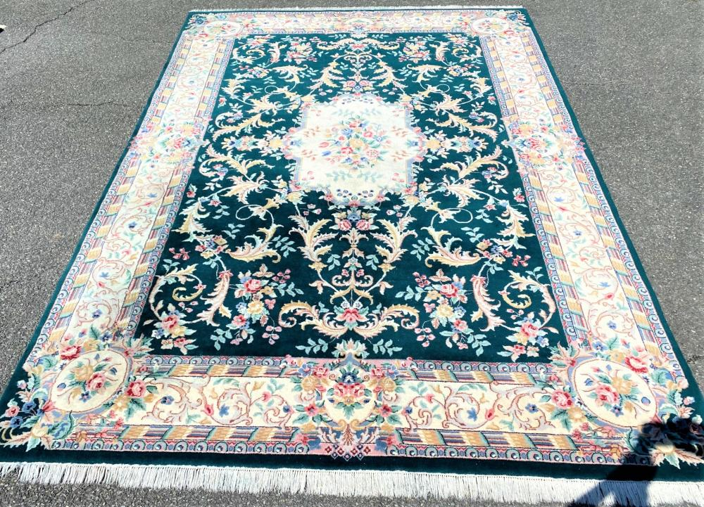 TABRIZ HAND KNOTTED RUG - 8.2 x 11.6
