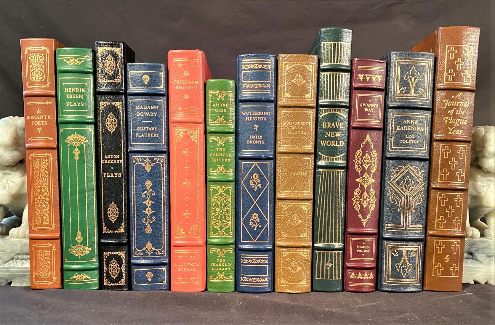LEATHER BOUND BOOK SET - 12 VOLUMES