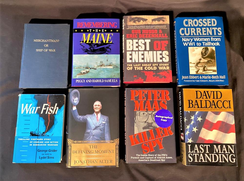 AUTHOR SIGNED SPY AND WAR BOOKS - 14 VOLUMES