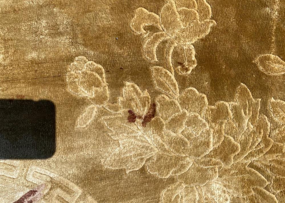 SILK ON SILK PICTORIAL 140 LINE HAND KNOTTED RUG - 9.0 x 12.0