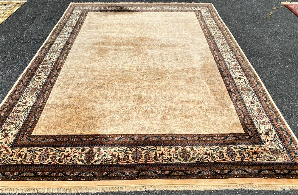 PERSIAN TABRIZ HAND KNOTTED RUG - 9.9 x 13.3