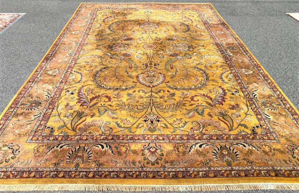 PALACE SIZED TABRIZ HAND KNOTTED RUG WITH A DOUBLE WEFT - 11.8 x 17.10